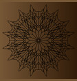 black delicate circular pattern mandala on a vector image vector image