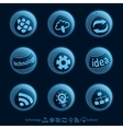 Blu planet icons vector image