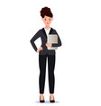business woman in suit set emotions poses vector image vector image