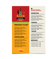 cafe menu mexican template design vector image vector image