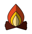campfire flame isolated icon vector image vector image