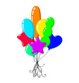 cartoon air balloons vector image