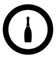champagne black icon in circle vector image vector image