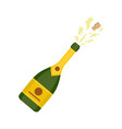 champagne icon flat style vector image vector image