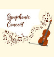 classical music violin concert vector image vector image