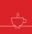 coffee red vector image vector image