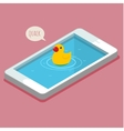 Concept of selfie and duck face vector image