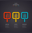dark abstract infographics number options template vector image vector image
