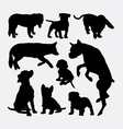 Dog pet animal silhouette 8 vector image
