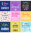 family lettring lovely calligraphy lovable vector image vector image