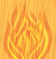 flames of fire on the wooden vector image vector image