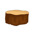 flat icon of brown dry tree stump with vector image vector image