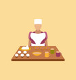 flat icon on stylish background school cook vector image