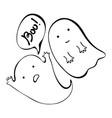 ghost cute halloween ghost with speech bubble vector image vector image