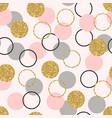 glitter circle seamless pattern golden circles vector image vector image