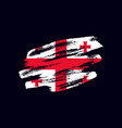 grunge textured georgian flag vector image