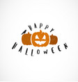 halloween pumpkins design element vector image vector image