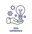 idea experience line icon concept idea experience vector image vector image