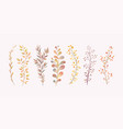 imitation watercolor twigs decor for the vector image
