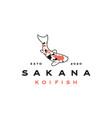 japanese koi logo fishing or aquarium related vector image