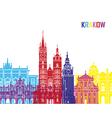 Krakow skyline pop vector image vector image