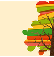 Multicolor tree background vector image vector image