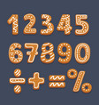 numbers and symbols vector image