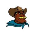 old american cowboy cartoon character vector image