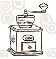 Old coffee mill vector image vector image