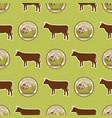 organic vegan healthy food eco restaurant cow vector image