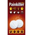 Painkiller tablets vector image vector image