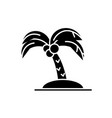 palm black icon sign on isolated vector image vector image