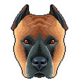pixel staffordshire dog portrait detailed isolated vector image vector image