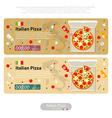 pizza flat icon banner italian handmade vector image