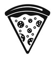 pizza slice icon simple style vector image vector image