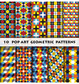 Pop Art Geometric Background Pattern Style vector image vector image