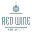red wine logo simple gray style vector image vector image
