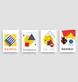 retro geometric bauhaus memphis templates set vector image vector image