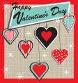 retro Valentine's heart ornament vector image vector image