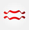 ribbon template design vector image vector image