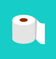 roll tissue paper in flat style vector image