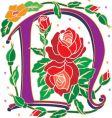rosette letter N vector image vector image