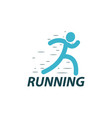 running logo design template vector image