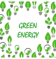 Saving energy icon with light bulbs and leaves vector image