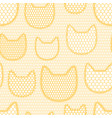 seamless lace pattern with cats vintage textile vector image