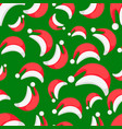 seamless wallpaper background red santa claus hat vector image