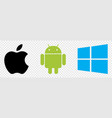 set top brand operating system logos isolated