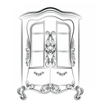 Showcase cabinet with rich ornaments vector image vector image