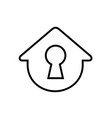 simple house with keyhole vector image vector image