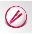 straightener icon hai outline white curl iron vector image
